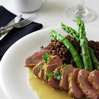 Roasted Duck Breast with Ginger-Rum Sauce.