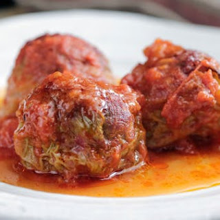 Meatball Stuffed Cabbage Rolls.