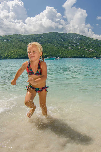 Let your kids play on the safe, clean beaches of St. Thomas in the U.S. Virgin Islands.