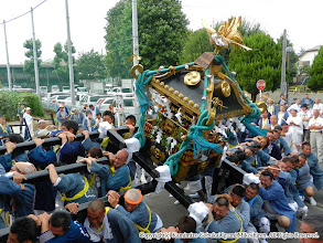 Photo: 【平成23年(2011) 本宮】 中村病院。激しく神輿をもむ。