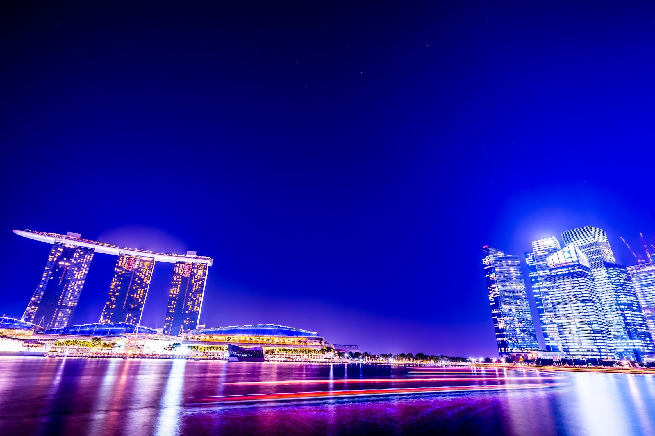 シンガポール マリーナ・ベイ・サンズ 夜景2