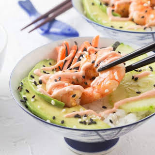 Spicy Shrimp Sushi Bowl.