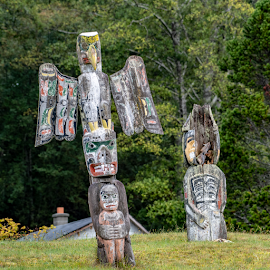 by Keith Sutherland - Artistic Objects Education Objects ( first nations, alert bay, memorial, alert bay totem, totem pole )