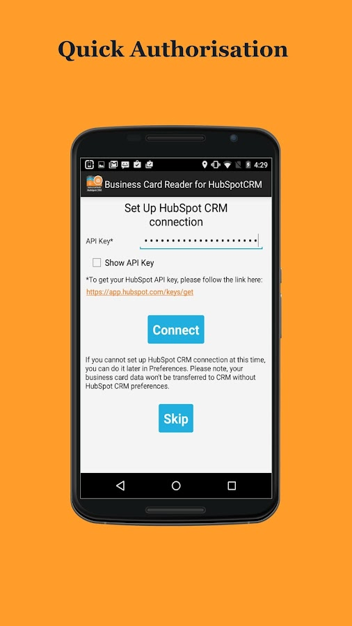 Free Business Card Reader for HubSpot CRM- screenshot
