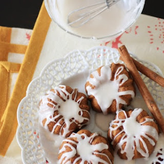 Pumpkin Mini Bundts with Cinnamon Glaze
