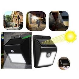 Set 2 x Lampa solara cu senzor de miscare
