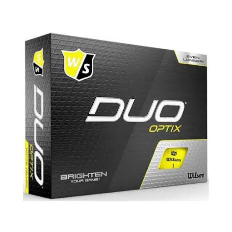 Golfbollar Wilson Staff Duo+ Optix Yellow