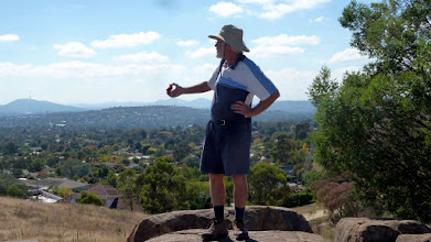 Photo: Roger on rocks on Cooleman Ridge