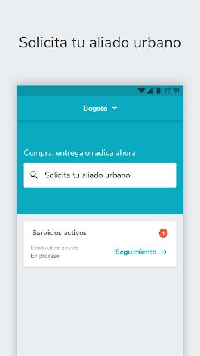 mensajeros urbanos cliente screenshot 1