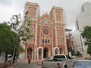Photo: The historic Assumption Cathedral. It's being refinished or something.