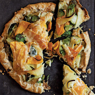 Rustic Vegetable Tart with Roasted Butternut Squash, Parsnips, and Brussels Sprouts