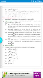 Maths Limits Formula Book - náhled