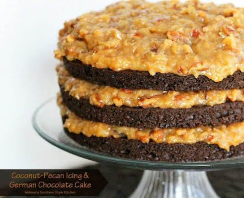 "Click Here for Recipe: Coconut-Pecan Icing And German Chocolate Cake ""This is..."