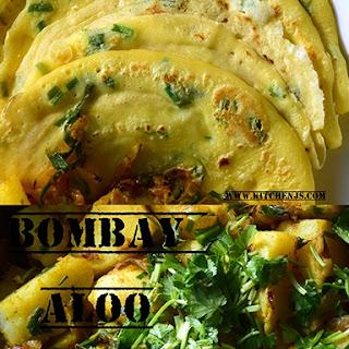 Savory Pancakes with Bombay Aloo