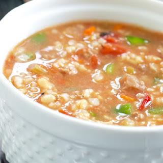 Slow Cooker Stuffed Pepper Soup.