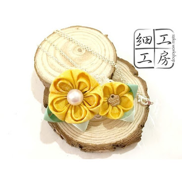 Saiku Worshop - Tsumami Brooh.  For more detail on facebok:  http://www.facebook.com/saiku.workshop  #tsumami #headpiece #handmade #tailormade #order #floral #hk #girl  #accessories #love #つまみ細工 #style #outlook #fashion #hairpiece #髮飾 #和服  #日式