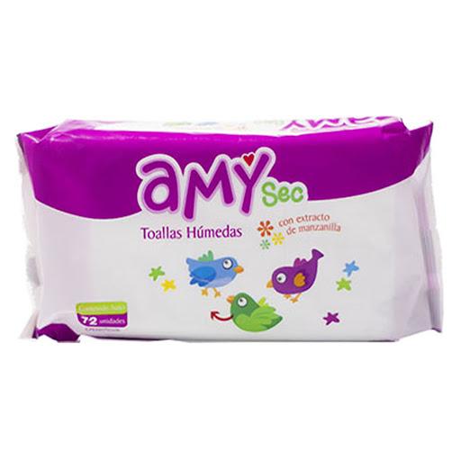 Toallas Humedas Amy Con Manzanilla 72Und