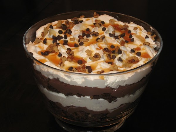 Turtle Brownie Trifle Recipe
