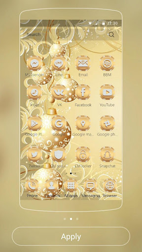 Gold Snow Ball Theme 1.1.2 screenshots 5