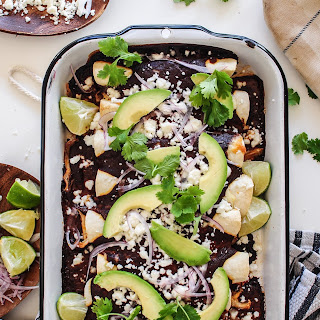 Chicken Enchiladas with a Ridiculously Easy Mole Sauce
