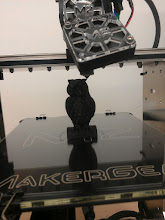 Photo: Trying a half scale standard test owl since we've had really good performance after the slic3r upgrade and head clog settled.  http://www.thingiverse.com/thing:18218