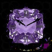 Purple Diamond Clock Widget