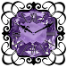 Purple Diamond Clock Widget Icon