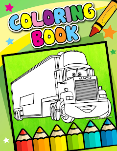 How To Color Lightning McQueen coloring pages Android Apps on