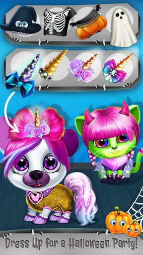 Kiki & Fifi Halloween Salon - Scary Pet Makeover 3.0.25 screenshots 7