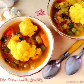 Vegetable Stew Recipe – Vegan Gluten Free Stew with Lentils and Cauliflower Recipe