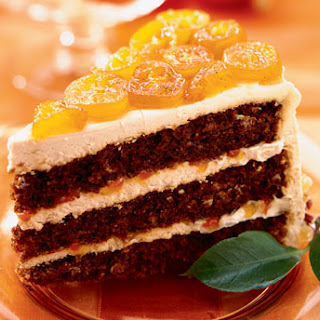 Gingerbread Layer Cake with Candied Kumquats.