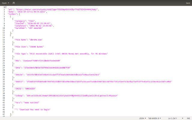 Page to JSON