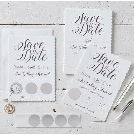 Kort Save the date - Scratch & Reveal