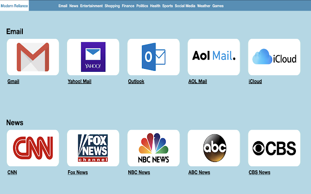 Modern Reliance Browser Extension