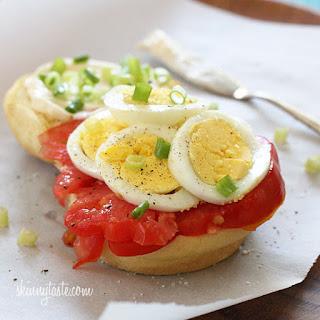 Egg Tomato and Scallion Sandwich.