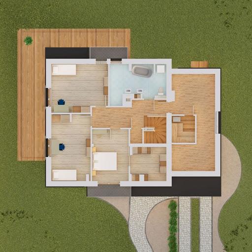 Zanzibar - Aksonometria piętro