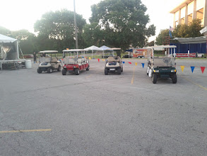 Photo: Santorum's fleet of golf carts.  nothing compared to Bachmann's.