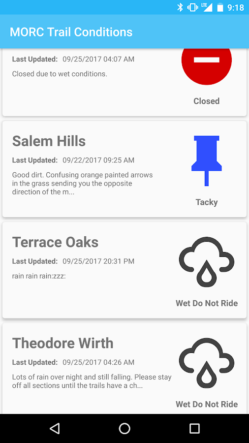 MORC Trail Conditions- screenshot
