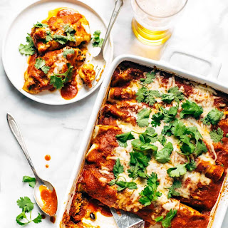Lazy Girl Chicken Quinoa Enchiladas