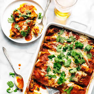 Lazy Girl Chicken Quinoa Enchiladas.