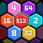 HexPuz - Free 2048 Merge Block Number Puzzle Game