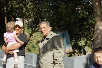 """Photo: Our driver, Luis, was like family.  He """"adopted"""" Iliana as his """"granddaughter"""" and carried her all the way up."""