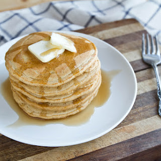 Whole Wheat Gingerbread Pancakes.