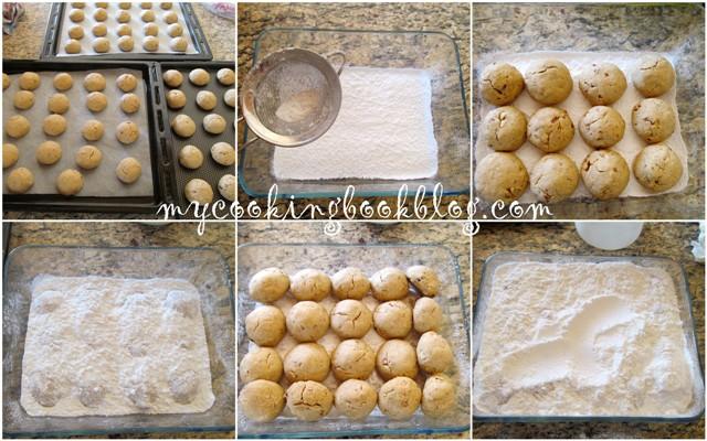 Курабиедес (κουραμπιέδες) с масло от растителен произход и яйца