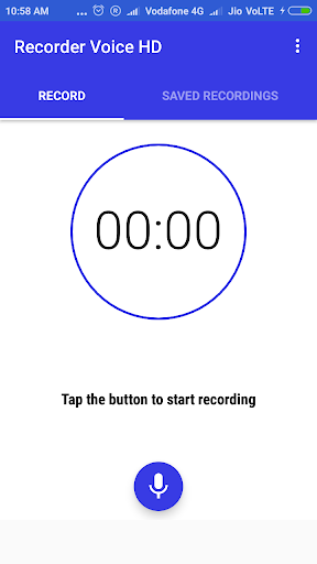 Recorder Voice HD 1.5.4 screenshots 1