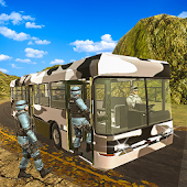 Army Bus Driving Game - Transport US Soldiers Duty