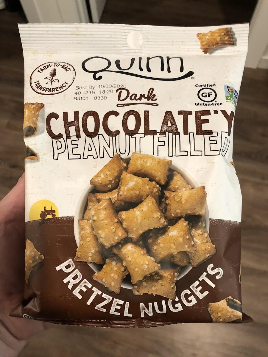 Dark Chocolate'y Peanut Filled Pretzel Nuggets