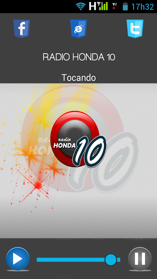 RADIO HONDA 10: captura de tela