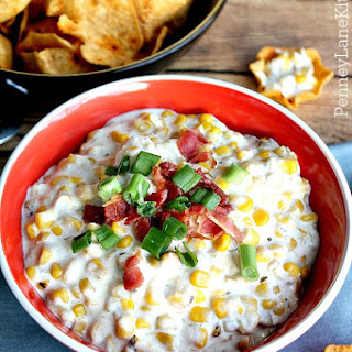 Slow Cooker Hot Corn & Chile Cheese Dip