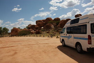Photo: Year 2 Day 217 -  Nancy at The Devil's Marbles